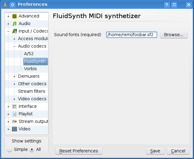 Remlab: MIDI with VLC media player